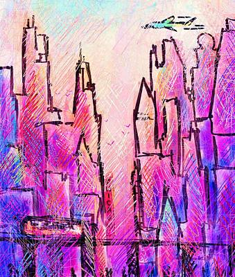 Port Town Digital Art - Am Chicago by Rachel Christine Nowicki