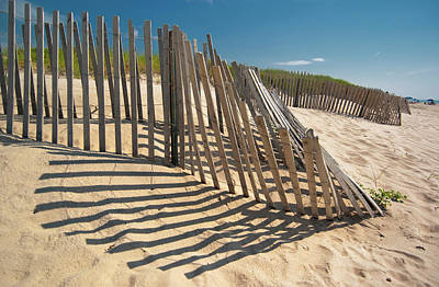 Amagansett Beach Fence Art Print