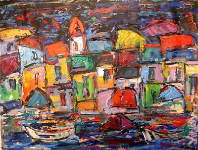 Amalfi At Night Art Print