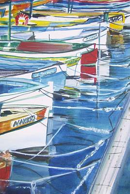 Painting - Amalfi Boats by Therese Fowler-Bailey