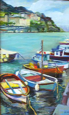 Painting - Amalfi Coast by Karen Apostolico