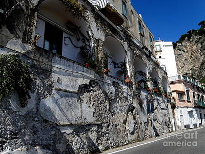 Italy Photograph - Amalfi Street  2 by Tanya  Searcy