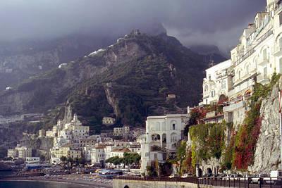 Leaden Sky Photograph - Amalfi Under Leaden Skies by Rod Jones