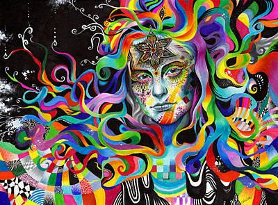 Trippy Mixed Media - Amalgamation by Callie Fink