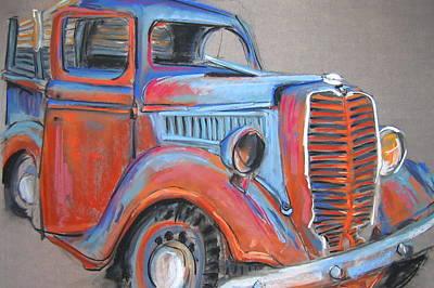 Amarillo Truck Art Print by Barbara Richert
