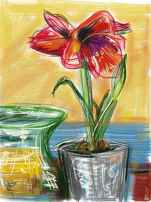 Mixed Media - Amaryllis by Russell Pierce