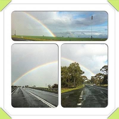 Nature Seekers Wall Art - Photograph - Amazing Rainbow Right Next To Road by Seeker Seeker