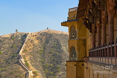 Amber Fort And Wall Art Print by Inti St. Clair