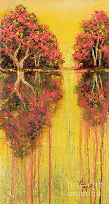 Painting - Amber Reflections by Vic  Mastis