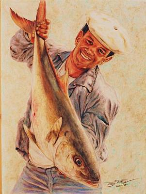 Drawing - Amberjack by Terry Jackson