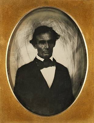 Ambrotype Of Abraham Lincoln, Taken Art Print by Everett