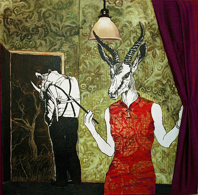 Rhinoceros Mixed Media - Ambushed by Stephanie Heendrickxen