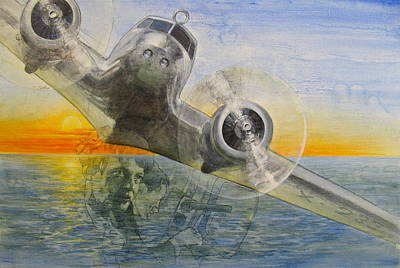 Painting - Amelia Earhart  by Cliff Spohn