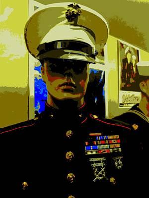 Amerian Hero 4 Art Print by Randall Weidner