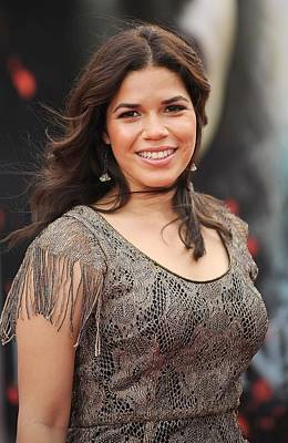 Dangly Earrings Photograph - America Ferrera Wearing A James by Everett