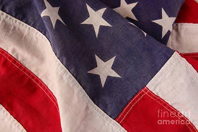 America Flag Art Print by Ruby Hummersmith