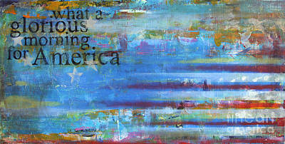 Abstract American Flag Painting - America by Sean Hagan