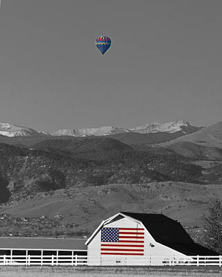 Hot Air Balloons Photograph - America The Beautiful The Banner Of The Free Bwsc by James BO  Insogna