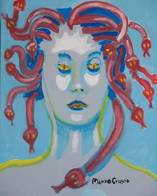 Americaine Medusa Art Print by Jay Manne-Crusoe