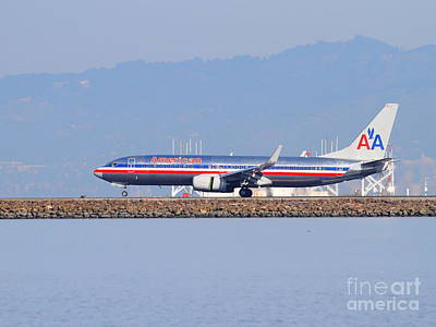 American Airlines Jet Airplane At San Francisco International Airport Sfo . 7d11837 Art Print by Wingsdomain Art and Photography