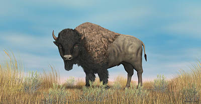 Digital Art - American Bison by Walter Colvin