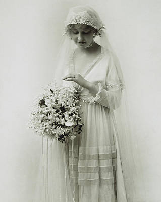 Photograph - American Bride, C1925 by Granger