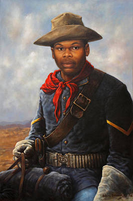 American Soldier Painting - American Buffalo Soldier by Harvie Brown