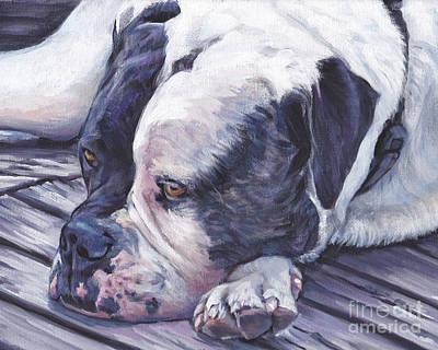 Painting - American Bulldog  by Lee Ann Shepard