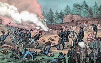 American Civil War, Battle Of Cold Print by Photo Researchers