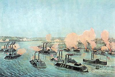 American Civil War, Battle Of Island Print by Photo Researchers