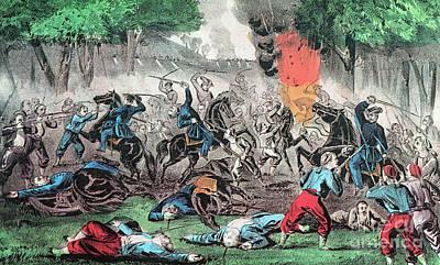 American Civil War, First Battle Art Print by Photo Researchers
