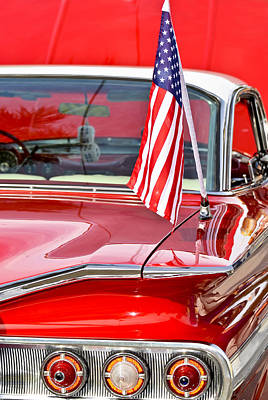 Red Street Rod Photograph - American Classic Impala by Carolyn Marshall