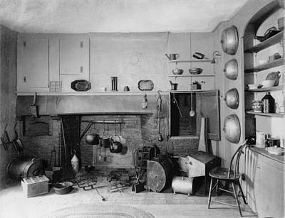 American Colonial Era Fireplace Art Print by Everett