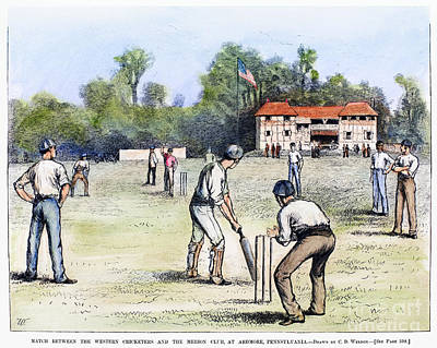 American Cricket, 1882 Print by Granger