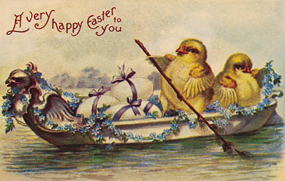 Photograph - American Easter Card by Granger
