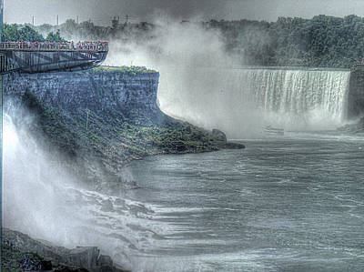 Heart Of Waterfalls Photograph - American Falls by William Fields