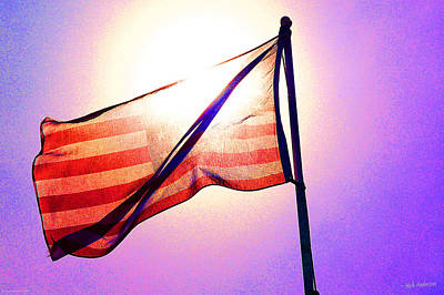 Photograph - American Flag In The Sun by Mick Anderson