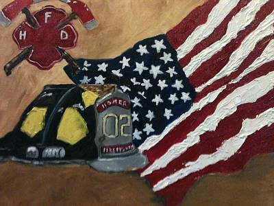 Painting - American Hero by Jenell Richards