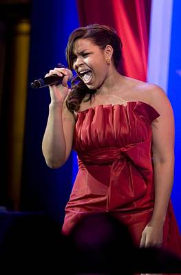Inaugural Gown Photograph - American Idol Jordin Sparks Performs by Everett