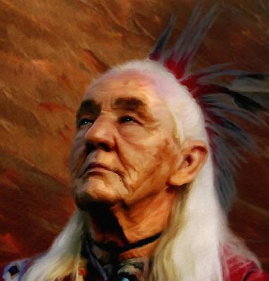 Indian Tribal Art Mixed Media - American Indian  by Georgiana Romanovna