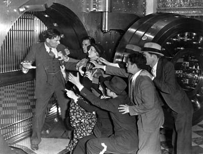 Bank Panic Photograph - American Madness, 1932 by Granger