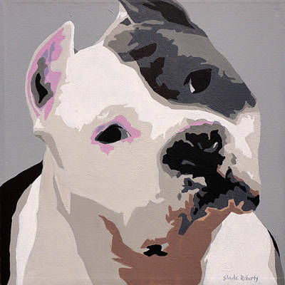Dog Pop Art Photograph - American Staffordshire Terrier by Slade Roberts
