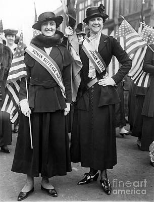 American Suffragists Art Print by Granger
