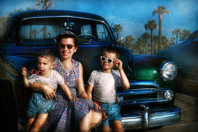 Photograph - Americana - Car - The Classic American Vacation by Mike Savad