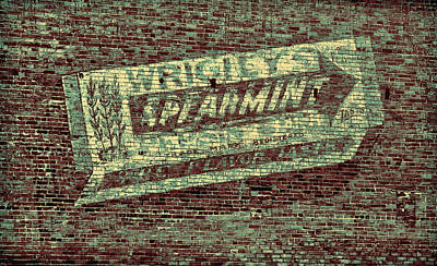 Americana Gum On Brick Print by Tony Grider