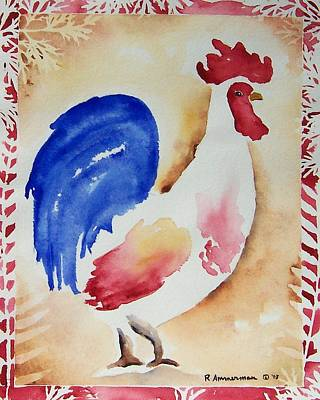 Painting - Americana Rooster by Regina Ammerman