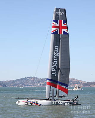America's Cup In San Francisco - Great Britain Ben Ainslie Racing Sailboat - 5d18248 Art Print