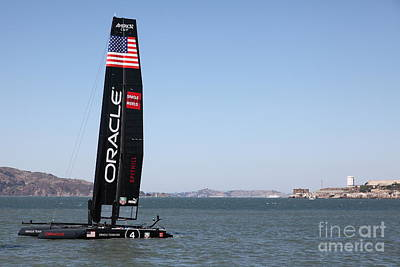 Green. 2012 Photograph - America's Cup In San Francisco - Oracle Team Usa 4 Sailboat - 5d18215 by Wingsdomain Art and Photography