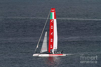 Luna Photograph - America's Cup In San Francisco - Italy Luna Rossa Paranha Sailboat - 7d19041 by Wingsdomain Art and Photography
