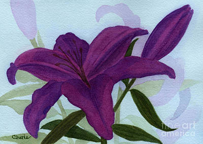 Amethyst Lily Art Print by Vikki Wicks